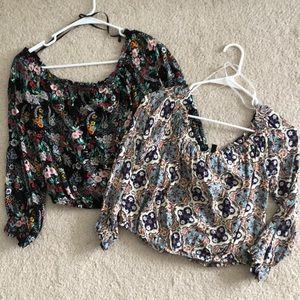 Bundle of 2: Off the Shoulder crop tops